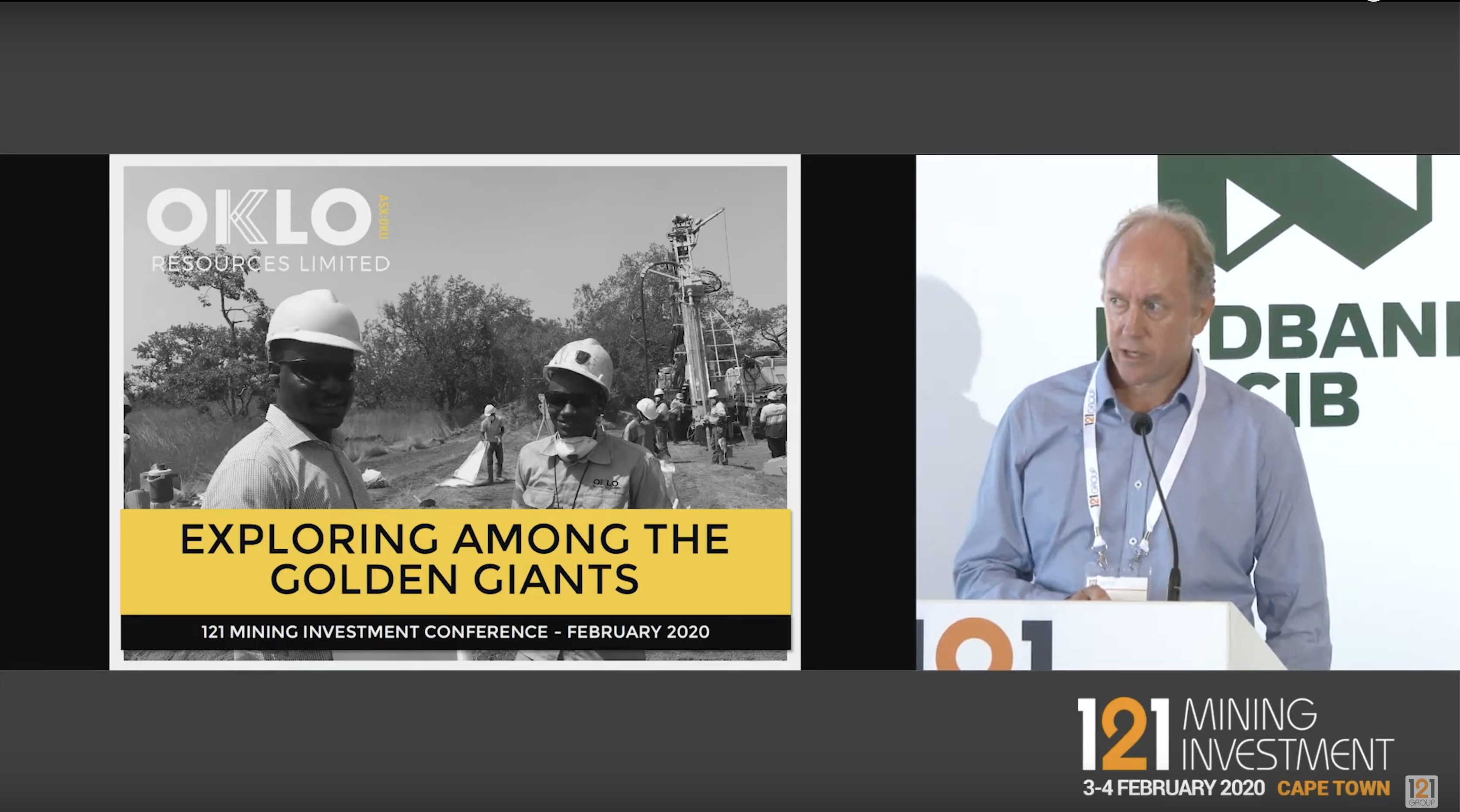 Simon Taylor presents at 121 Mining Investment Cape Town 2020